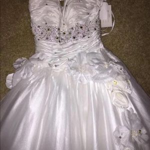 Jovani prom wedding ivory ball gown dress tulle